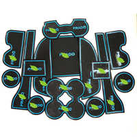 Free Shipping High Quality Silica Gel Door Groove Mat Gate slot mat Cup Non-slip mat For 2010-2015 Toyota Prado FJ150 15PCS