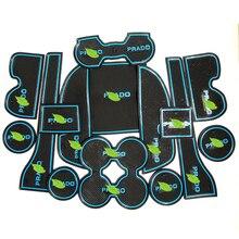 Free Shipping High Quality Silica Gel Door Groove Mat Gate slot mat Cup Non-slip For 2010-2015 Toyota Prado FJ150 15PCS