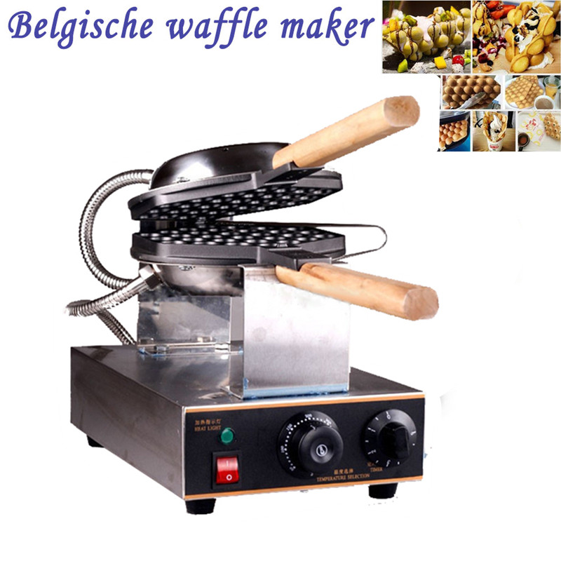 Фотография Stainless steel Egg Waffle Maker 1400W Electric Waffle Machine 220V/50-60HZ HK QQ Egg Maker