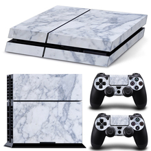 Marble Grain Waterproof PVC Decal Vinyl Skin Stickers for PS4 Console and Controllers