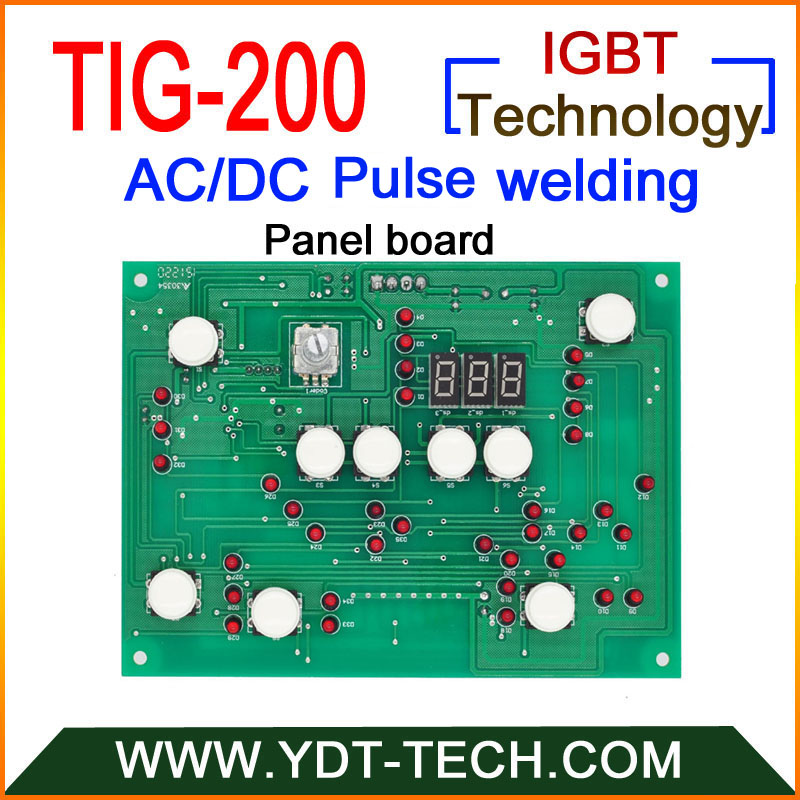 TIG 200 AC DC pulse tig welding machine boards sets with IGBT controller Panel board Control