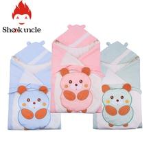 Хлопковые газовые Детские спальные мешки 90*90 см, негабаритные конверты для новорожденных, Детские спальные мешки со Свинкой из мультфильма, детское одеяло для пеленания