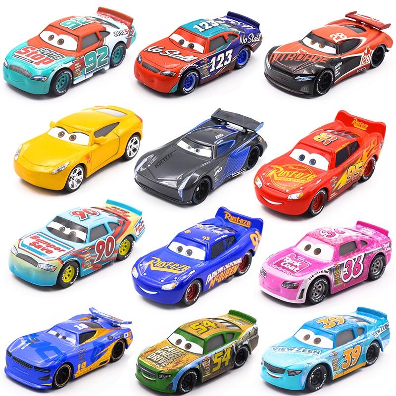 Disney Pixar Cars 3 2018 New Lightning McQueen Jackson Storm Cruz Ramirez Diecast Metal Car Model Birthday Gift Toy For Kid Boy