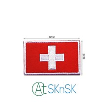 Zwitserland Stijl Mode Patches voor Kleding Badges Armband Doek Tas Badges Patch Nationale Land Vlag voor hoed(China)