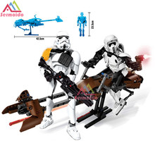 sermoido Star Wars Imperial Storm Scout Troopers Speeder Bike Building Block Compatible With 75532 Brick Toy B247
