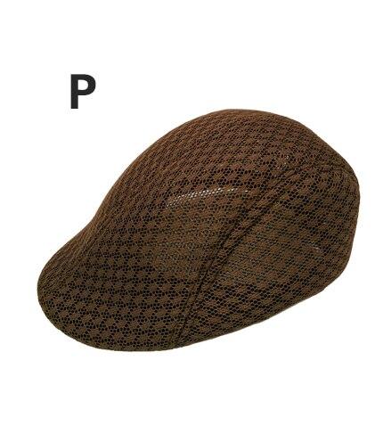 Английский стиль, однотонные весенне-зимние шапки для мужчин и женщин, модные уличные унисекс пляжные солнцезащитные шапки, новые повседневные мужские береты - Цвет: P