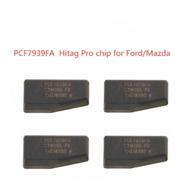 RIOOAK Auto Car Key PCF7939FA 128Bit Carbon Transponder Chip HT Pro For Ford Edge Fusion Ecosport