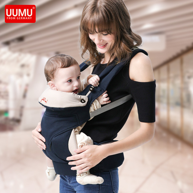 Ergonomic Adjustable Baby Carrier Sling With Pocket Breathable Baby Kangaroo Hipseat Backpacks & Carriers Multifunction Backpack