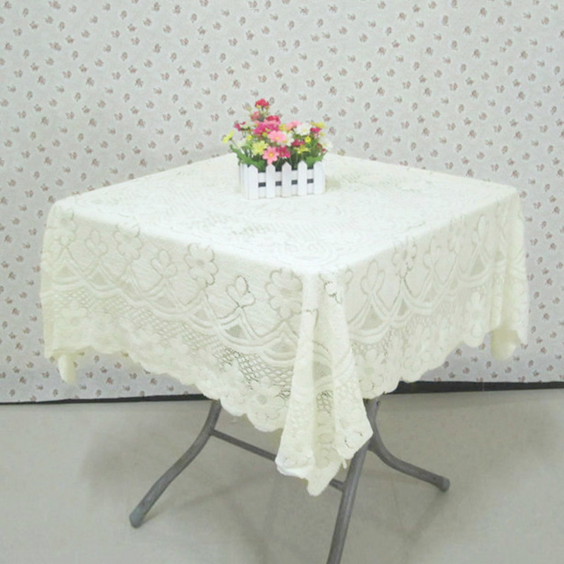Vintage europe style lace tablecloth non slip table cover wedding party tea coffee table cloth Coffee table tablecloth