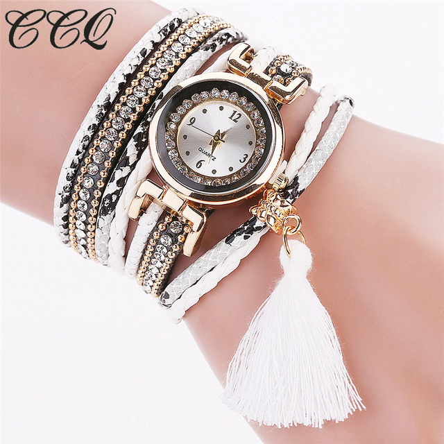 Dropshipping Women Bracelet Watch Creative Design Tassel Pendant Wristwatches La