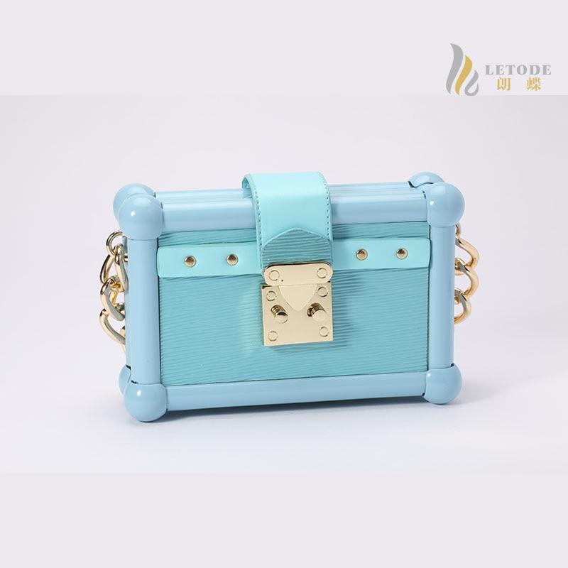 92113fde7 Mulheres bolsas mini Saco de embreagem de couro preto luz azul rosa sacos  de ombro mensageiro sacos de marca de moda bolsas femininas 8268-2
