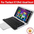 "Sem fio Bluetooth Keyboard Case Capa Para Teclast X10, X10H 3g X10HD 3G Dual boot 10.1 ""Caso Tablet bluetooth keybaord caso"
