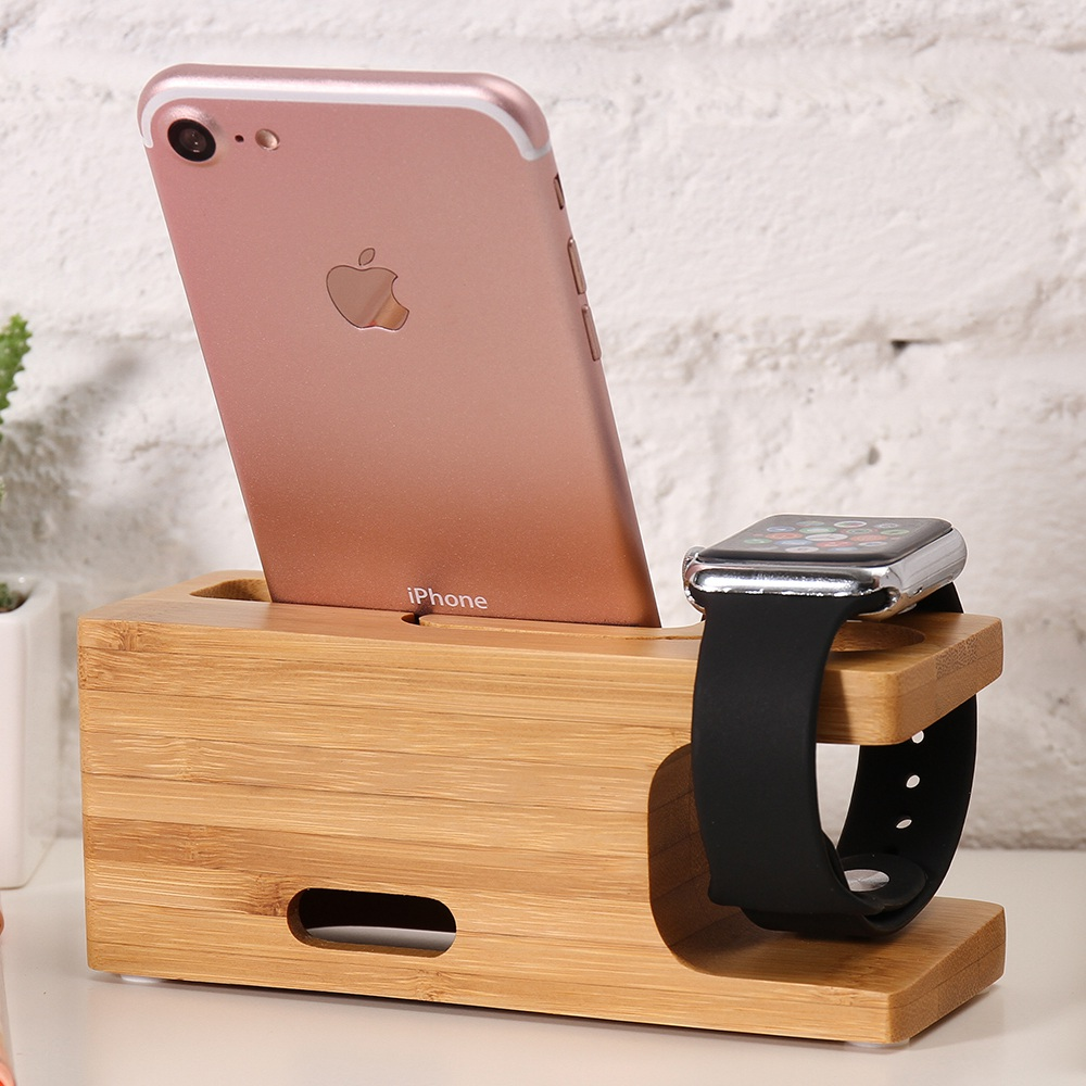 Wooden phone holder stand for iphone free shipping