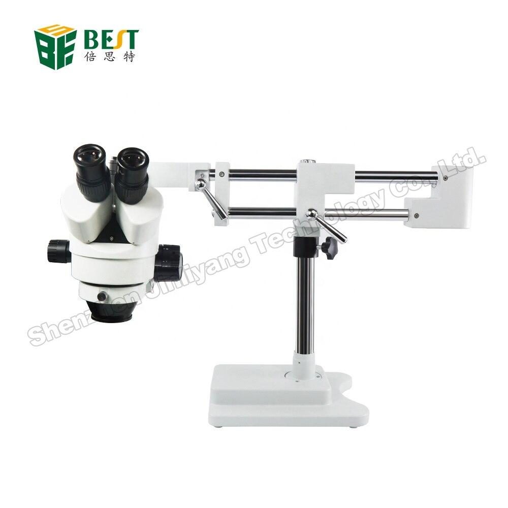 3.5X 7X 45X 90X ДВОЙНОЙ Boom Регулируемая подставка зум симуляторный фокусный Тринокулярный стереомикроскоп для промышленного осмотр печатной пла