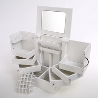Turn Desktop Cosmetics Storage Box With A Lid Large Cosmetic Box Containing Finishing With A