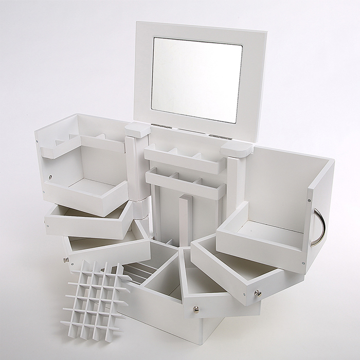 Organizer Turn Desktop Cosmetics Storage Box With A Lid Large Cosmetic Containing With M ...