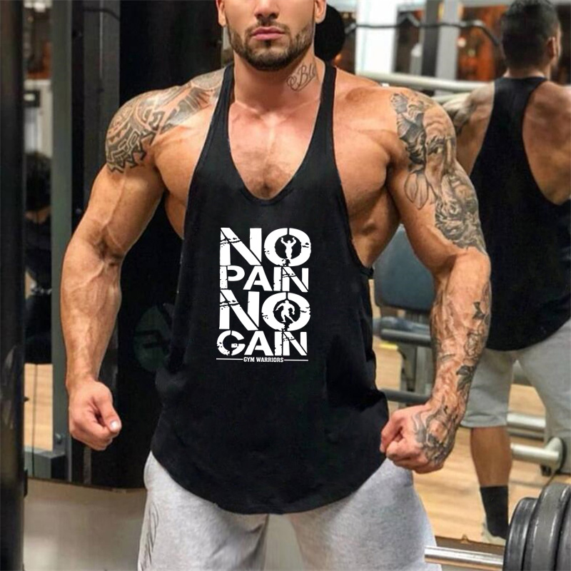 Brand bodybuilding stringer   tank     top   men musculation vest gyms clothing and fitness men undershirt solid   tank   blank shirt