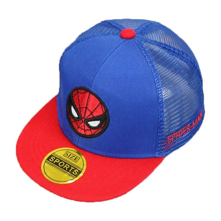 Child Summer Baseball Cap Unisex Mesh Patchwork Adjustable Snapback Baseball Hat Spider-Man Hip-hop Caps Kid Chapeau MZ4806