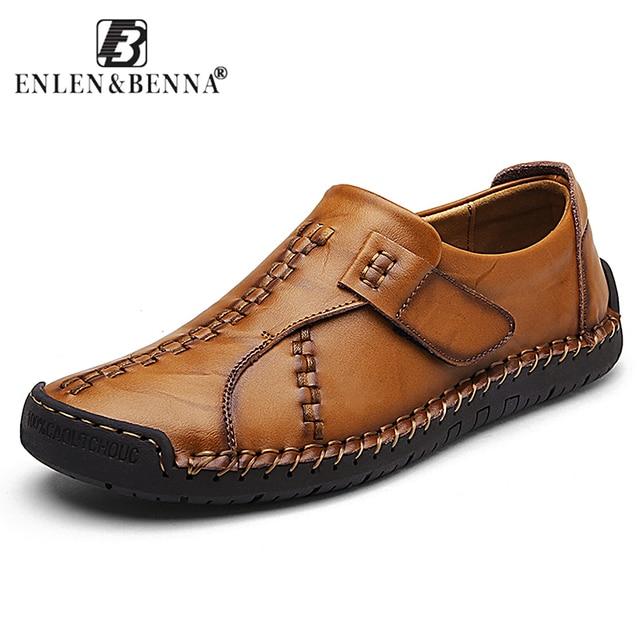 高級デザインスニーカー本革の靴フラットローファー高品質カジュアルシューズ男性モカシン男性の靴