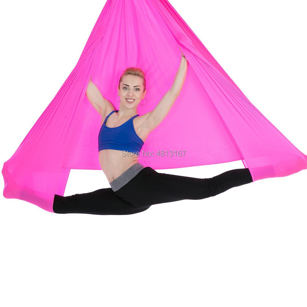 6*2.8m Aerial Yoga Hammock Swing Only Flying Hanging Yoga Sling Premium Silks Anti-Gravity Inversion Pilates Bodybuilding