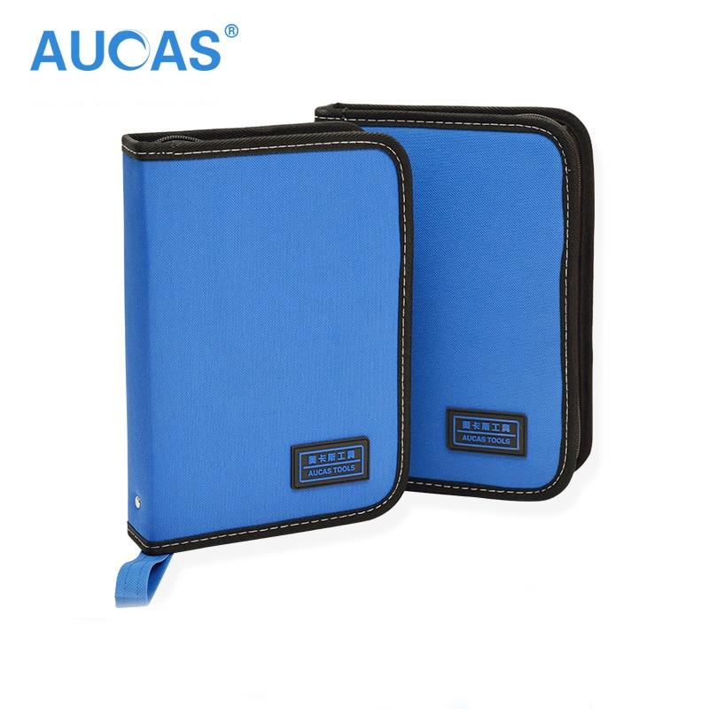 Aucas Network Tools Bag Multitool Network Repairing Set  Tool Storage Bag Oxford Cloth Hardware Bag Pouch Blue