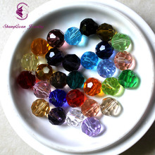 Wholesale Faceted Glass Crystal Round Spacer Beads 10mm 30 Colors Pick Free Shipping(SQ3A210)