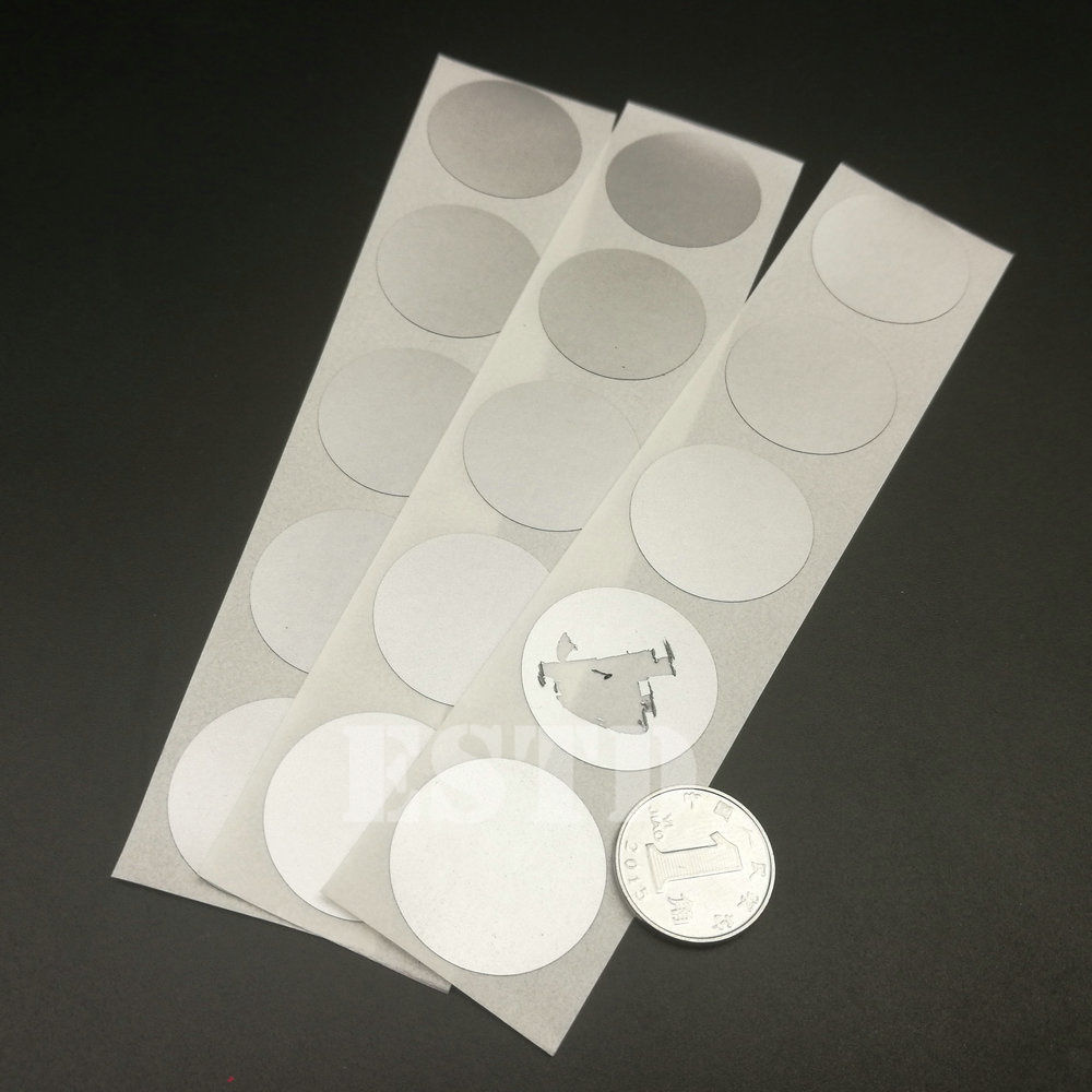 25mm 1 Round Glossy Silver Color Up-To-Date Styling New Arrival 100 Scratch Off Sticker 25mm Office & School Supplies