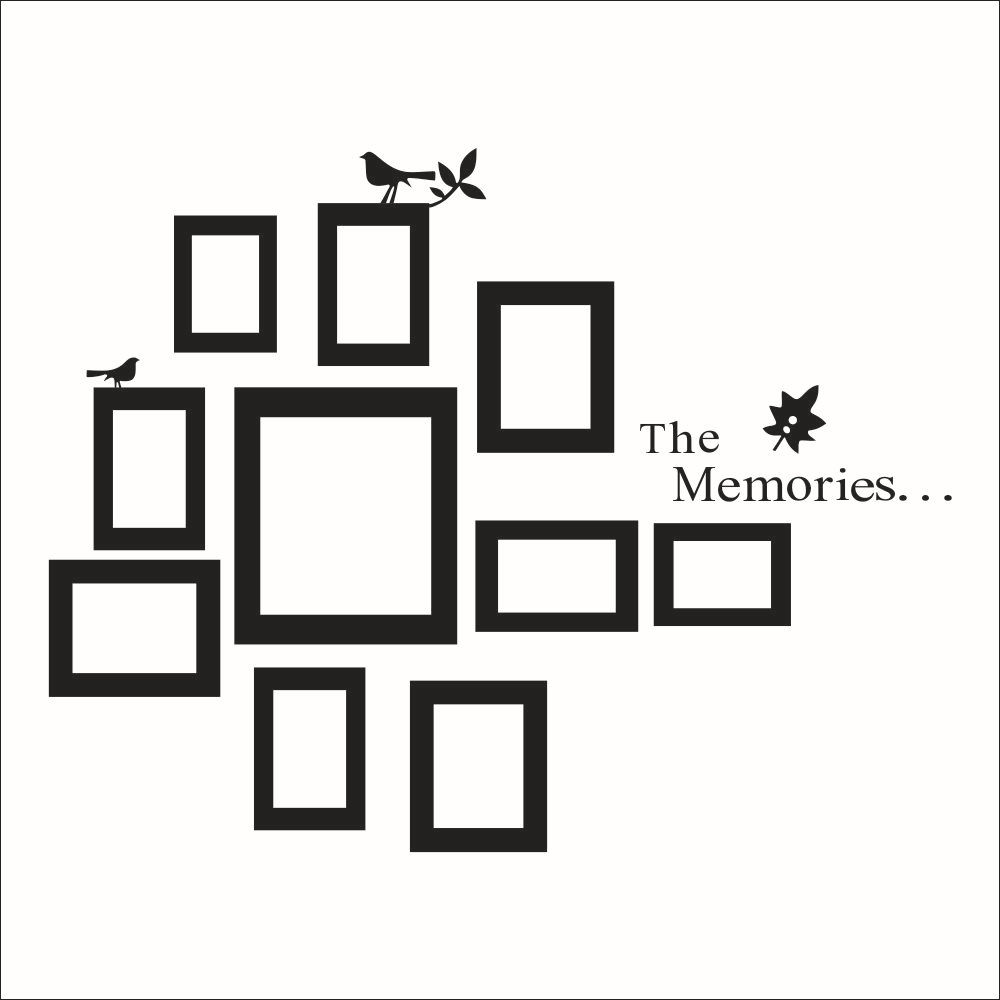 Frame Wall hoto-frame-wall-decals-2014-new-design-removable-xl-memories-photo-frame -vinyl-wall-stickers-home