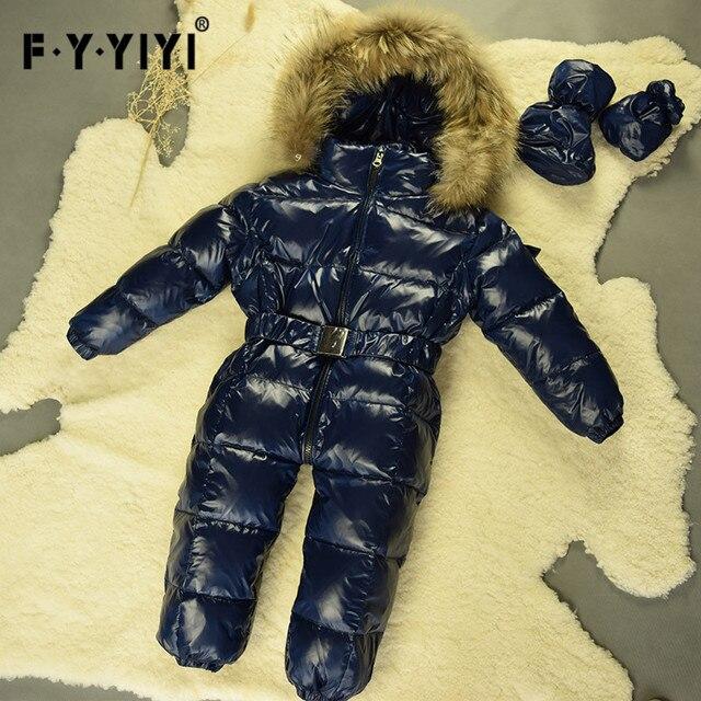 e44361032e78 Aliexpress.com   Buy Winter baby snowsuit newborn warm duck down 100 ...