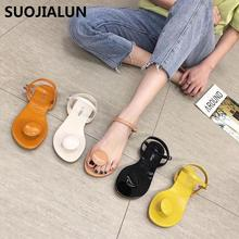 Women Slippers Summer Flip Flops Thong Shoes Flat Sandals Slides Korean Style Candy Colors Casual Outside Beach