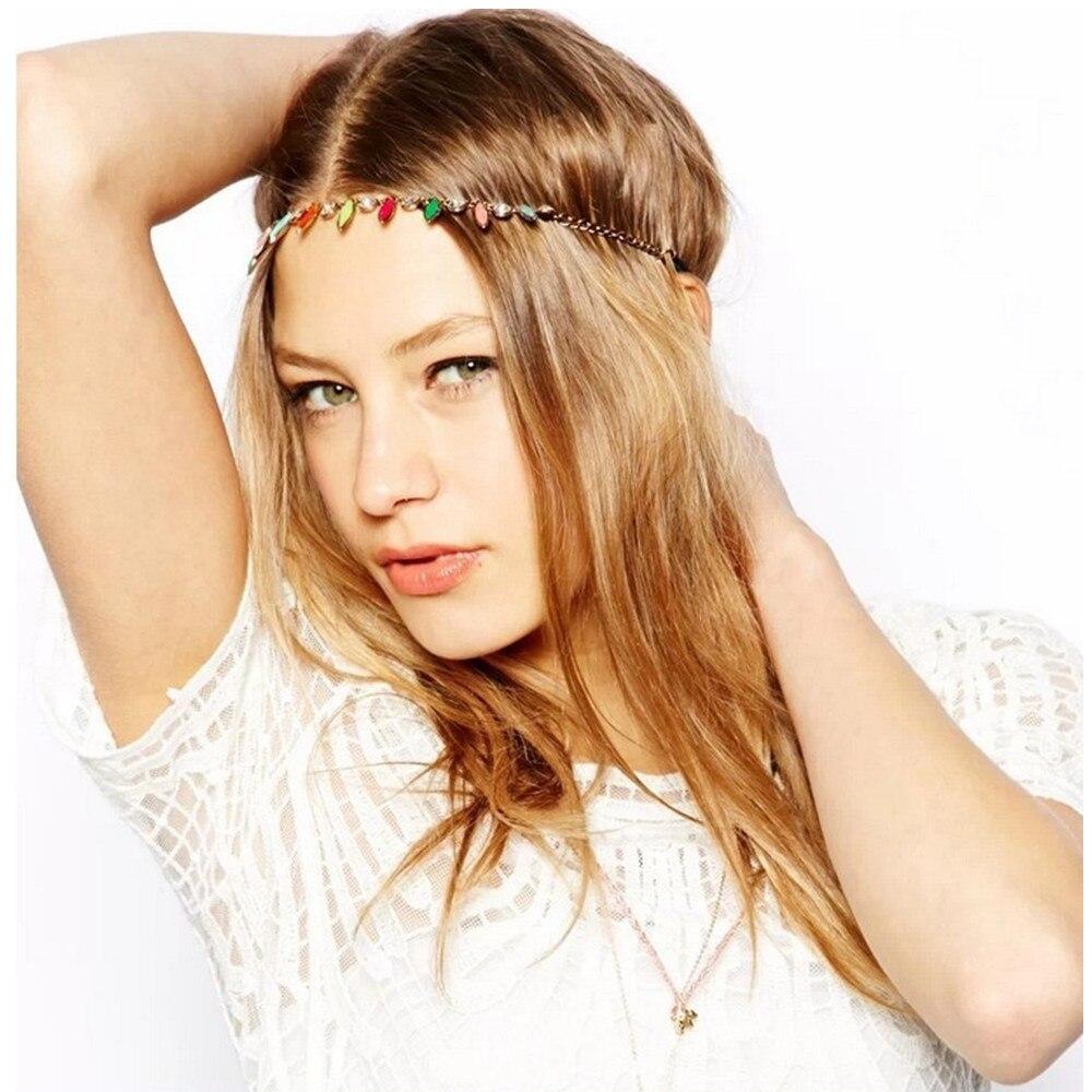 Fashion Acrylic Head Chain Hair Jewelry Indian Hairband For Women tiara bijoux de tete Headbands wedding hair accessories CF136