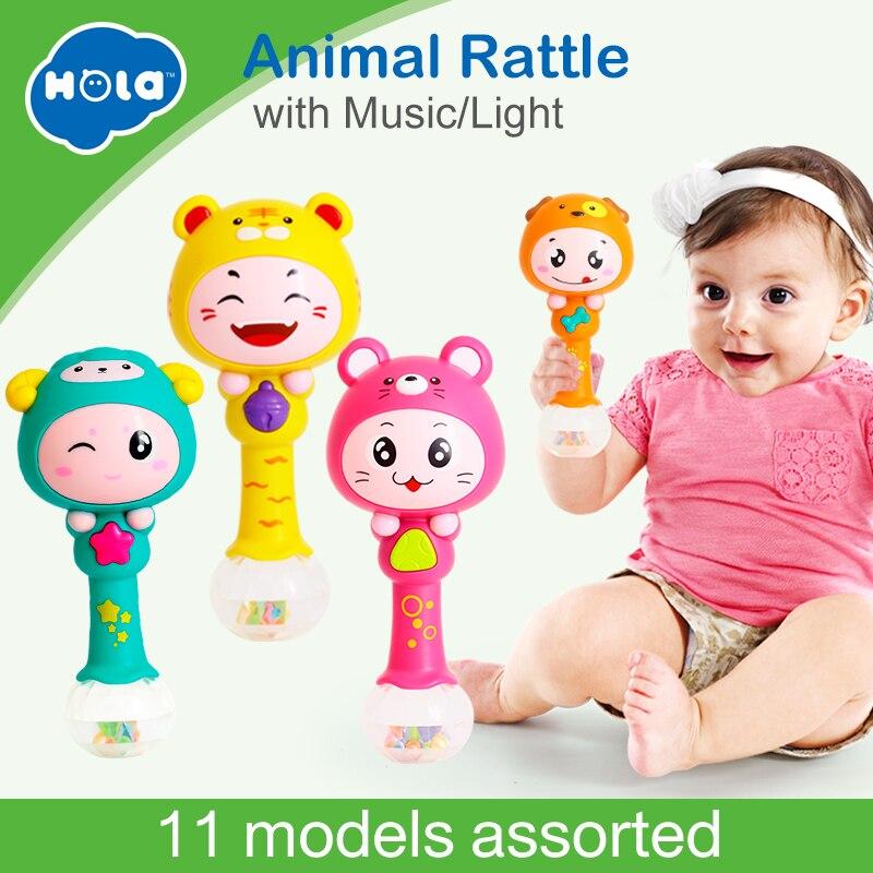 HUILE SPIELZEUG 3101 Baby Shaker Sand Hammer Spielzeug Dynamische Rhythmus Stick Baby Rasseln Kinder Musical Party Favor Musical Instrument Spielzeug