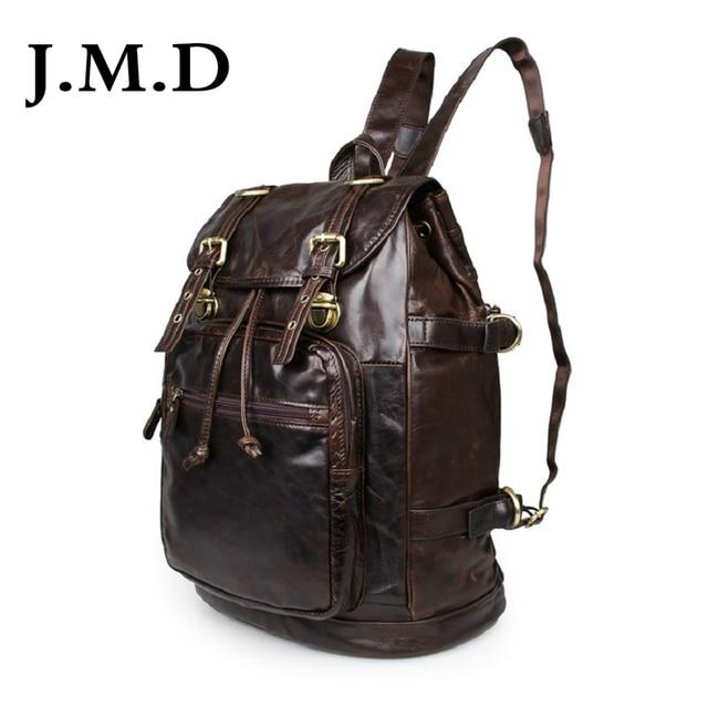 J.M.D 2017 New High Quality 100% Real Leather Hand bag  Genuine Leather Travel Backpack  Shoulder Bag 6085