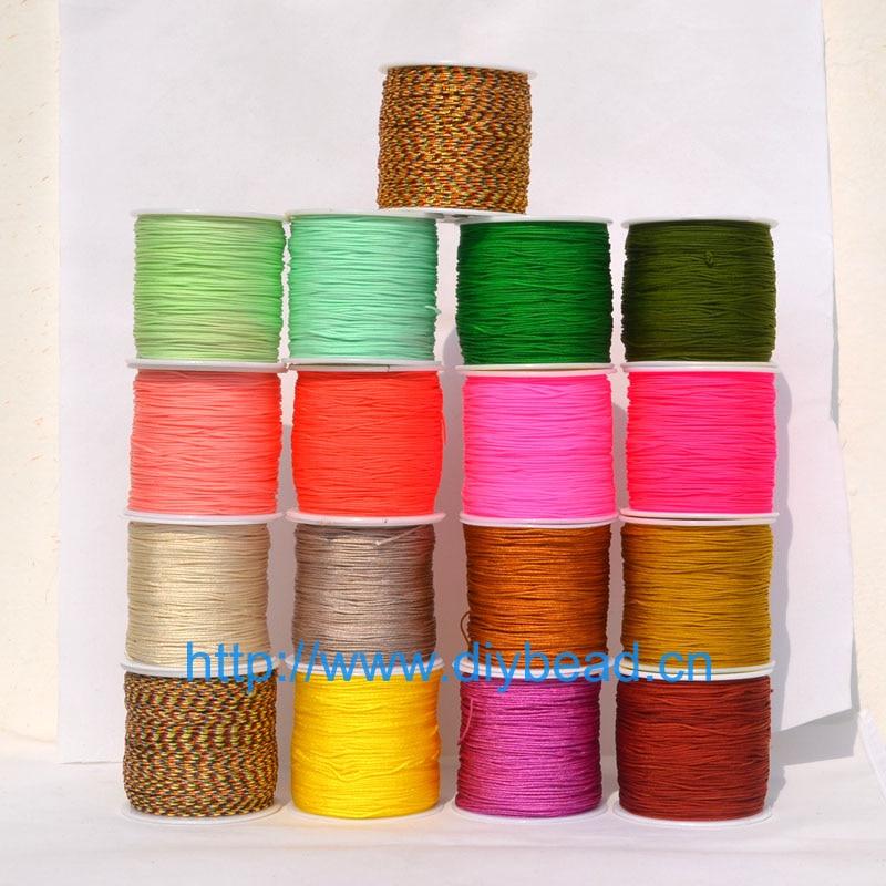 17 Colors Nylon Cords Thread Chinese Knot Macrame Cord Bracelet Braided String DIY Tassels Beading Jewelry Making String Thread