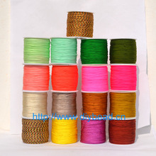 17 Colors Nylon Cords Thread Chinese Knot Macrame Cord Bracelet Braided String DIY Tassels Beading Jewelry Making String Thread yyw 0 15mm 2 yarn jewelry diy making cord thread silk beading thread pearl string 900m spool nylon cord costume jewelry thread
