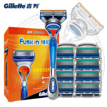Original Gillette Fusion Men Shaver Razor Blade Replacement Head For Men Manual Safety Shaving Blades Holder Razor Blade Set new gillette fusion shaving razor blades for men brands straight razor 1 holder 1 blade manual shaver shaving knife