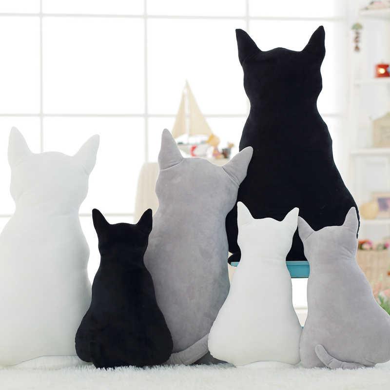 Caliente nuevo lindo suave felpa sombra gato peluche animal sofá almohada cojín hogar habitación decoración cumpleaños regalo para niños amigos