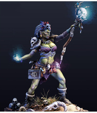 New Unassembled  1/24 75mm THE SHAMAN ORC woman soldier 75mm    Resin Kit DIY Toys Unpainted resin model
