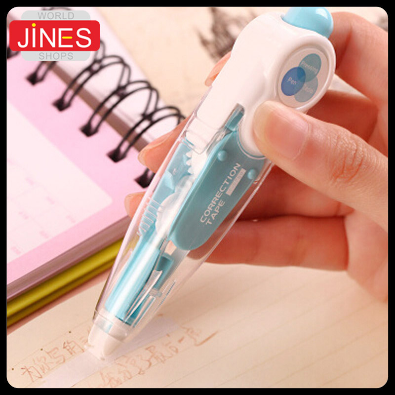 6 pcs/Lot Fashion Student Stationery Cute Cartoon Simple Push Correction Tape Ultra-thin Films Altered School office supplie Pap