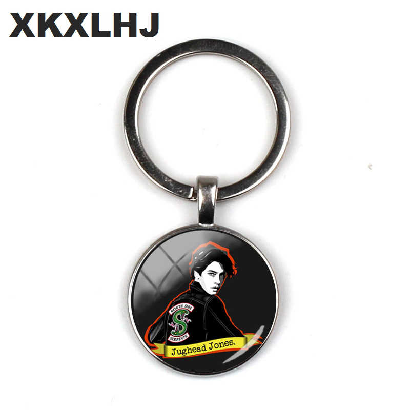 2018 New Jughead Keychain Pendant Riverdale Pendant Mystery Glass Dome Photo Key Chain Silver Crafts Jewelry