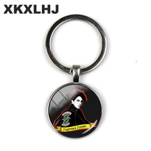 2018 New Jughead Keychain Pendant Riverdale Pendant Mystery Glass Dome Photo Key Chain Silver Crafts Jewelry(China)