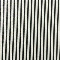 Pu合成2ミリメートル黒3ミリメートルホワイトストライププリント革素材