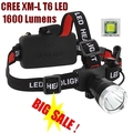 CREE XM-L XML T6 LED 1600 Lm Rechargeable Headlight LED Headlamp CREE For 1 x 18650 or 3 X AAA Battery
