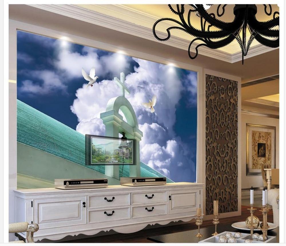 3d wallpaper home decoration fenster mural tapete kreuz von christus ...
