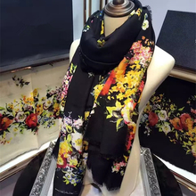 New Women Cashmere Scarf 71″ 180cm Occident Novelty Flower Pattern Sweet Style Hot Sale Shawl Keep Warm High Quality BY168264