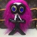long hair KARL bag Charm Monster bag bug Pompom tote charm blue Gems eye Keychain  fur monster Key Ring fashion Key holders