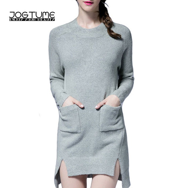 06822b3ced72 JOGTUME Cachemire Tricoté Robe 2017 Automne Hiver Femmes De Mode Robe Pull  Vert Clair Dame Sexy