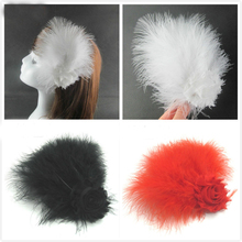 1pcs/lot white ostrich feathers Hairpin stage performance wedding feather skirt tiara head flower hair accessories AC075