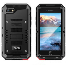LUPHIE Metal Aluminum Sealed Waterproof Outdoor Diving Case for iPhone 6 6S 7 8 Plus X XS Max Heavy Duty Armor Shockproof Cover