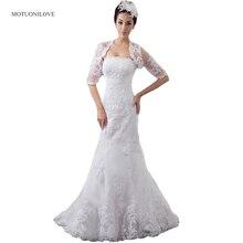 Real photo Mermaid Wedding Dresses Plus Size Lace Appliques Half Sleeves Bridal Gown Custom Made Wedding Gown With Jacket/Bolero владислав гончаров великая отечественная катастрофа – 3 сборник